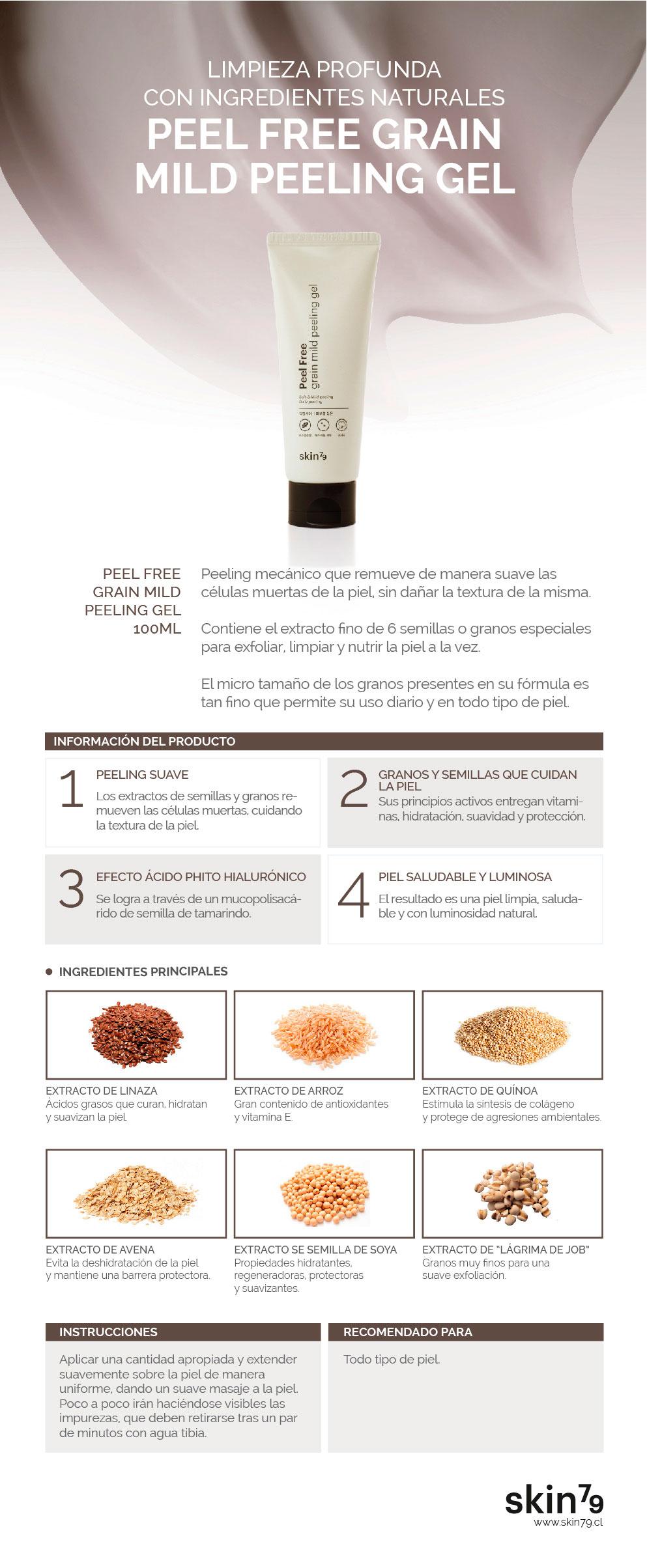 PeelFree Grain Mild Peeling Gel - Skin79