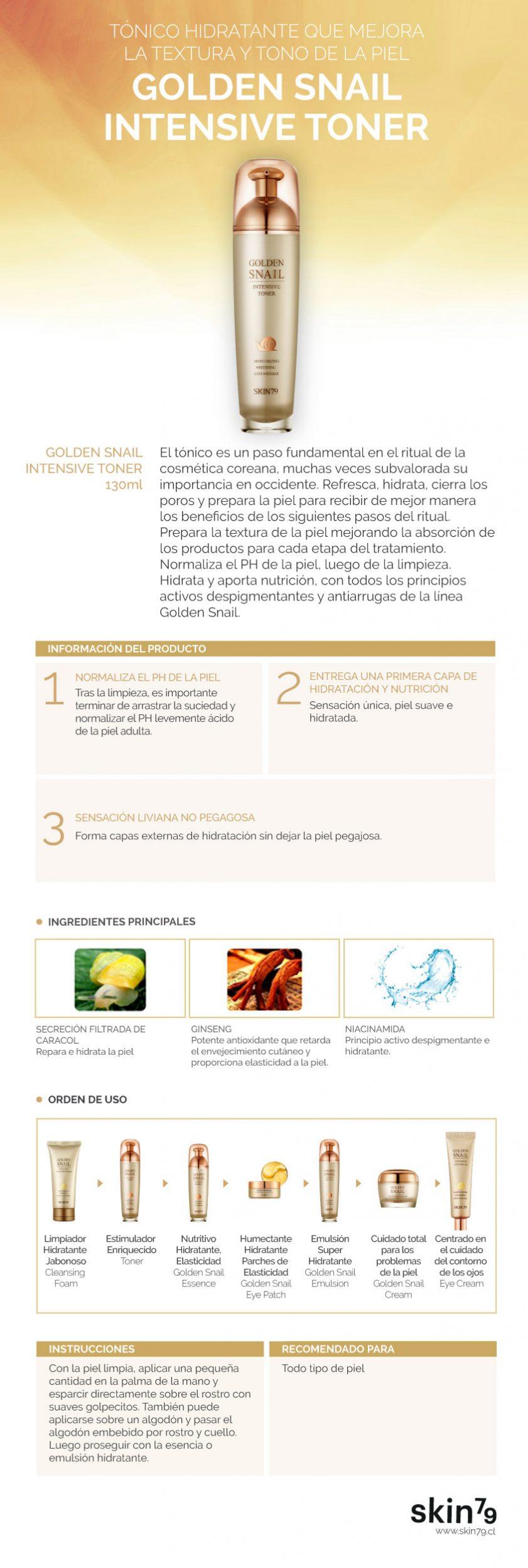 Golden Snail Intensive Toner - Skin79
